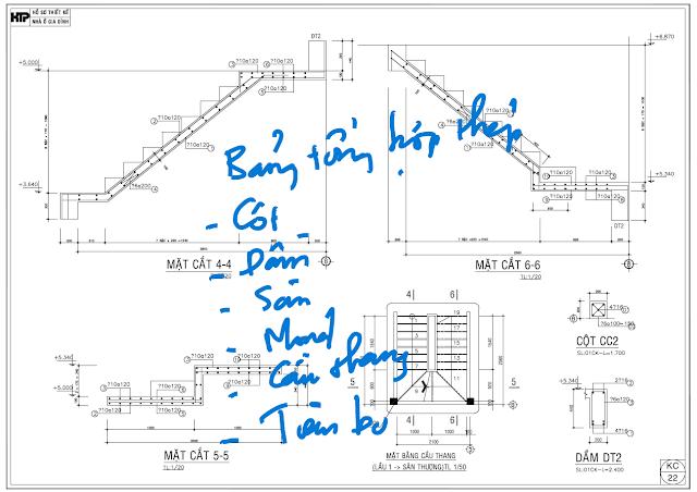 Bổ sung bảng thống kê tổng hợp thép cho toàn bộ nhà
