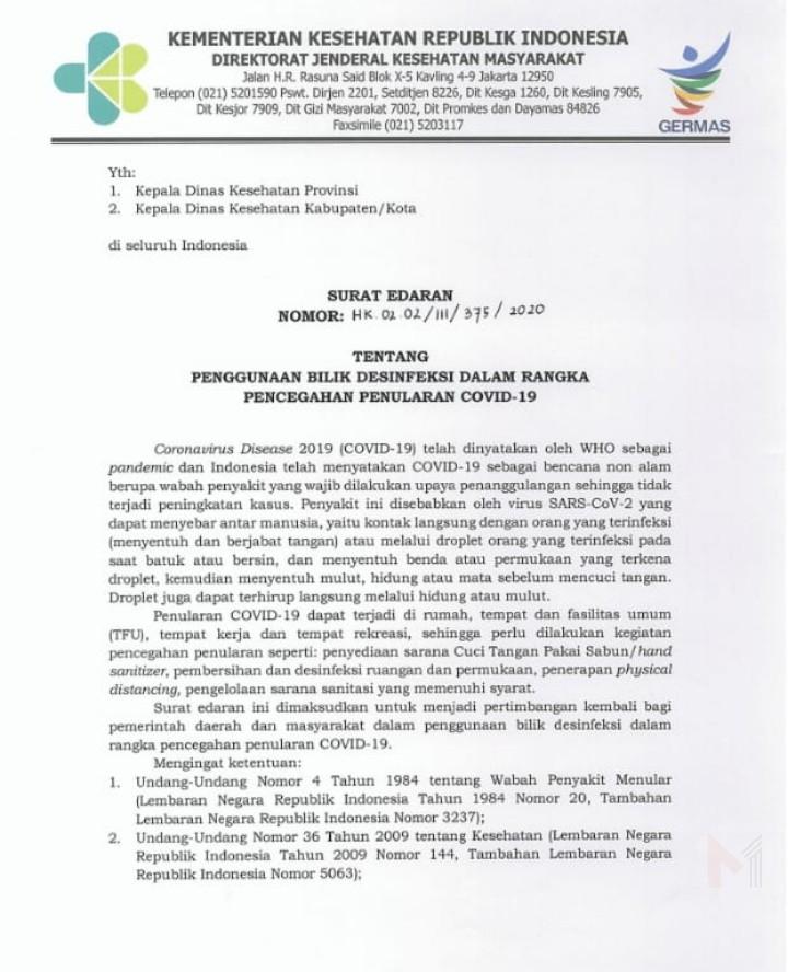 Kemenkes Tidak Rekomendasikan Bilik Desinfeksi, NU Kabupaten Malang Fokus Gerakan Cuci Tangan