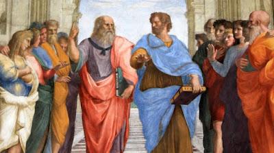 """""""Escola de Atenas"""" (1509), pintura de Rafhael (1483-1520) pertencente à Pinacoteca Ambrosiana do Vaticano."""
