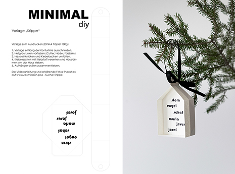 Eine Weihnachtskrippe aus Papier selber basteln - WEihnachtsbaumanhänger