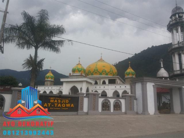 Masjid At-Taqwa Lempur Tengah - Motif Awan