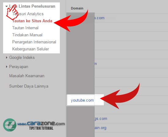 Cara Melihat Backlink dari Youtube pada Blog kita