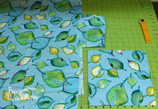 fabric with leaves