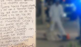 """""""La plaza tiene dueños y se respeta"""", """"El 30"""" del CDS deja tres ejecutados junto a mensaje amenazando a la contra en Aguascalientes"""