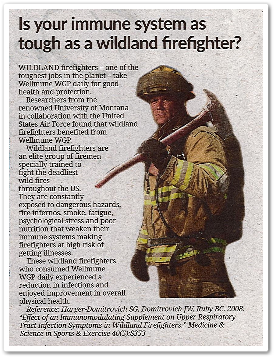 Is your immune system as tough as a wildland firefighter? - Keratan akhbar The Star 26 Oktober 2019