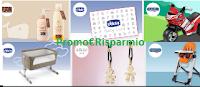 Logo Vinci gratis Voucher, Gift card e prodotti Chicco, seggiolino, culla e molto altro!