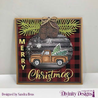 Stamp/Die Duos: Loads of Love, Custom Dies: Merry Christmas,Scalloped Ovals, Pinecones & Pine Branches, Paper Collection: Rustic Christmas