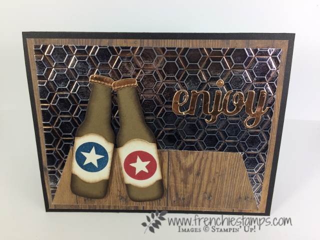 Bubble Over, Masculine Card, Customer Appreciation, Stampin'Up!, Frenchiestamps,