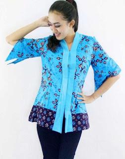 Model baju batik kerja atasan