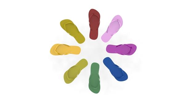 chanclas colores solidworks