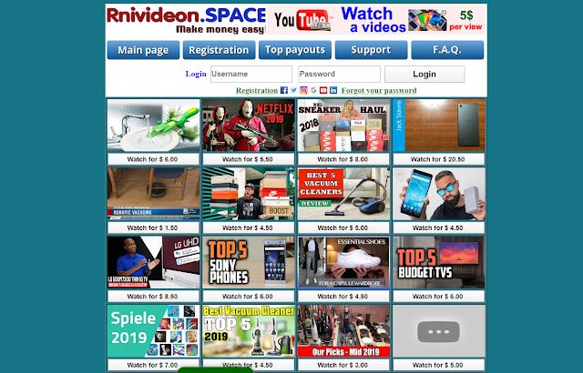 موقع rnivideon صادق ام نصاب الموقع الخاص بمشاهدة الفيديوهات وربح 100 دولار في ساعة scam