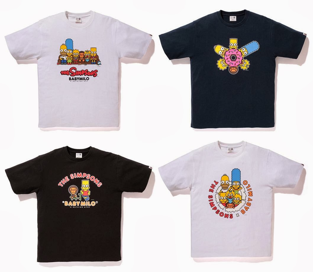cb616e5c The Simpsons x A Bathing Ape Capsule Collection - The Simpsons & Baby Milo  T-
