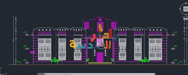 تحميل ملف أوتوكاد لــ مشروع مبنى المكتبة Dwg