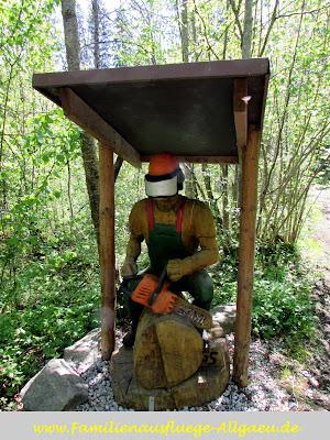 Waldarbeiter aus Holz
