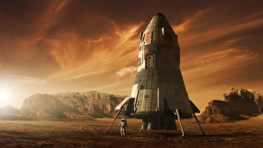 MAV - concept art for The Martian by Steve Burg