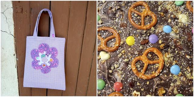 Schokolade und Geschenktasche - Sewn gift bag and chocolate