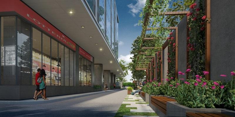 Không gian thoáng rộng, xanh mát của dự án Chung cư Hà Sơn Tower