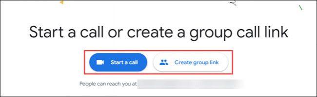 بدء مكالمة أو مجموعة