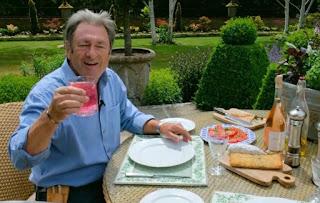 Alan Titchmarsh drinking gin