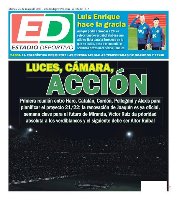 """Betis, Estadio Deportivo: """"Luces, cámaras, acción"""""""