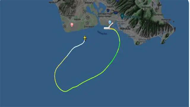 هبوط اضطراريا  لطائرة شحن من طراز بوينج 737 فى مياه سواحل هاواي الأمريكية