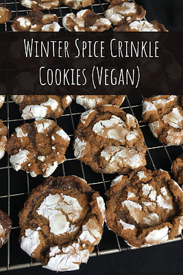 Winter Spice Crinkle Cookies (Vegan)