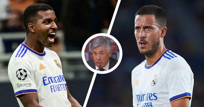 Ancelotti talk subbing in Rodrygo ahead of Hazard against Inter