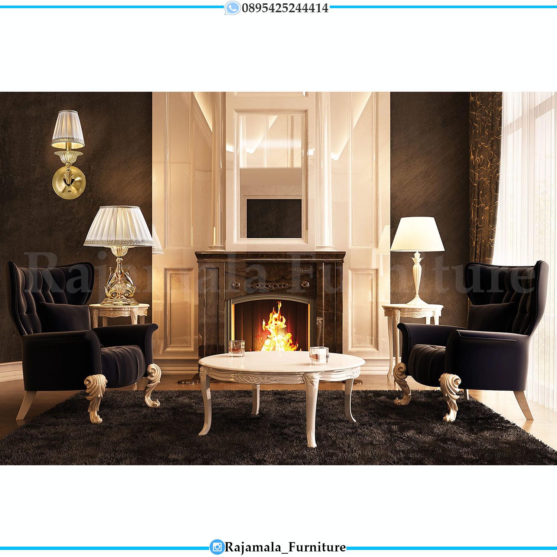 Kursi Teras Mewah Elegant Style Luxury Coffee Table Set Furniture Jepara RM-0196