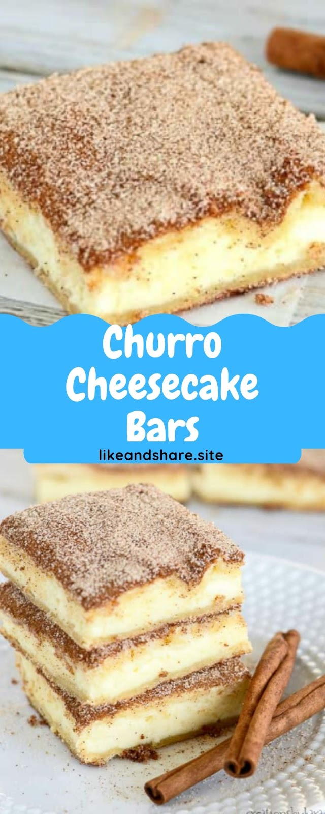 Churro Cheesecake Bars