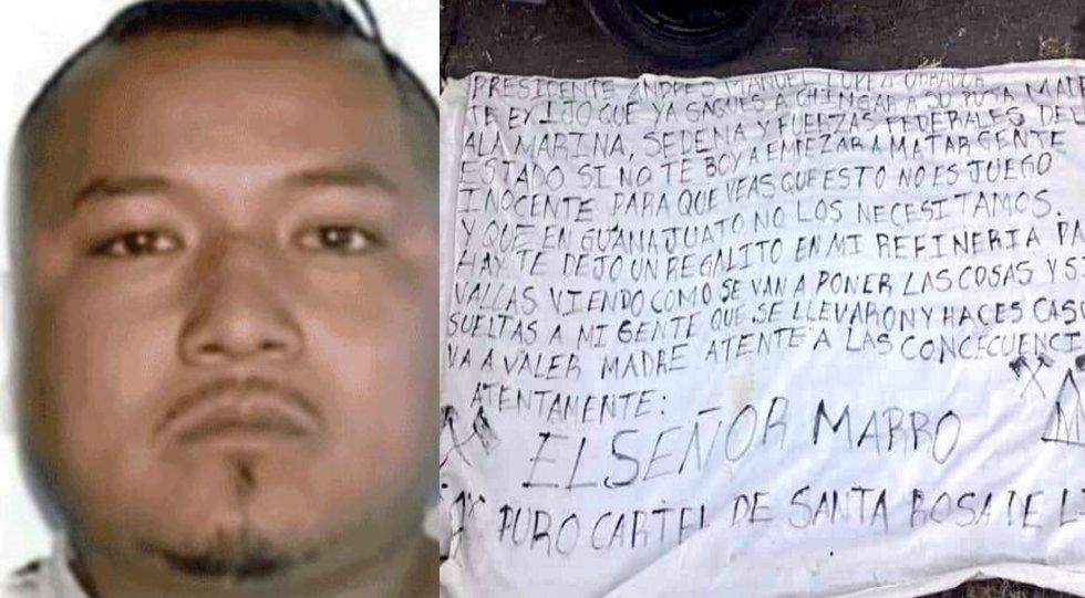 """""""El Marro"""": el lider Huachicolero que amenazó a AMLO, habría gozado de protección del gobierno de Guanajuato."""
