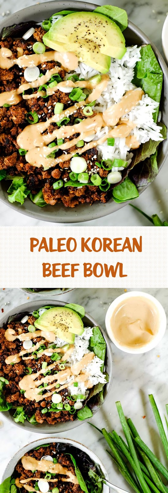 Paleo Korean beef bowl