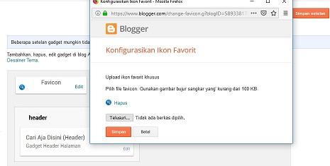 Cara Mengganti Icon Favicon Pada Blogger