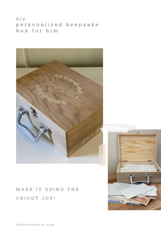 diy personalized keepsake box for him