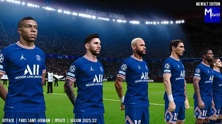 Kitpack PSG Update Season 2021-2022 For eFootball PES 2021