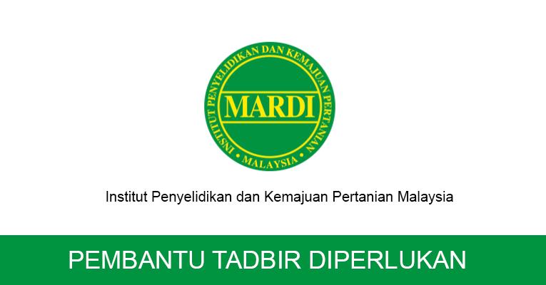 Jawatan Kosong di MARDI - Pembantu Tadbir P/O N19