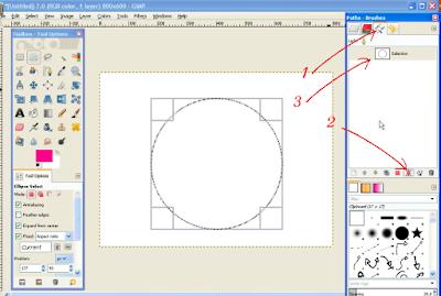 Membuat Teks / Tulisan Melengkung di GIMP3