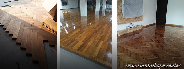 beberapa contoh lantai kayu Jati terpasang 2