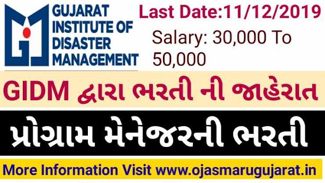 GIDM Prog. Manager And Ass. Prog. Manager Requirement 2019