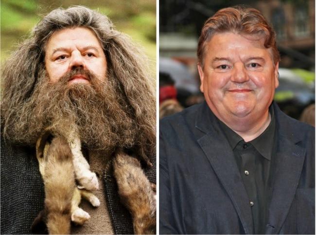 Rubeus Hagrid interpretado por Robbie Coltrane