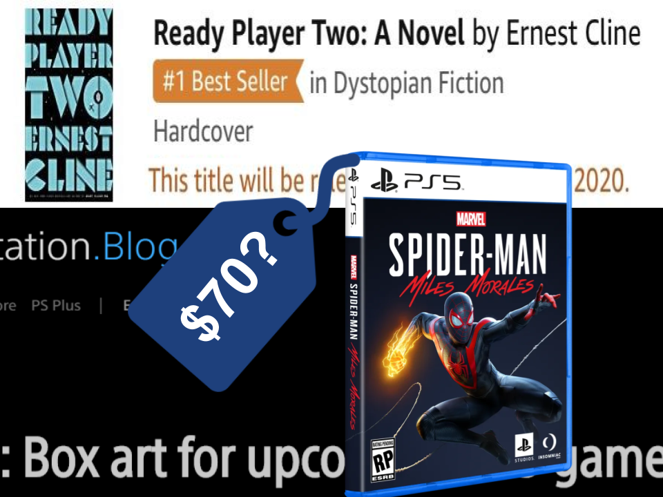 breaking news ready player one sequel book coming november ps5 game box design revealed are 70 next gen games the norm ready player one sequel book coming