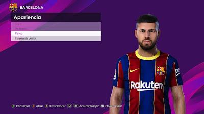PES 2021 Faces Sergio Aguero by 0coolmodfaces