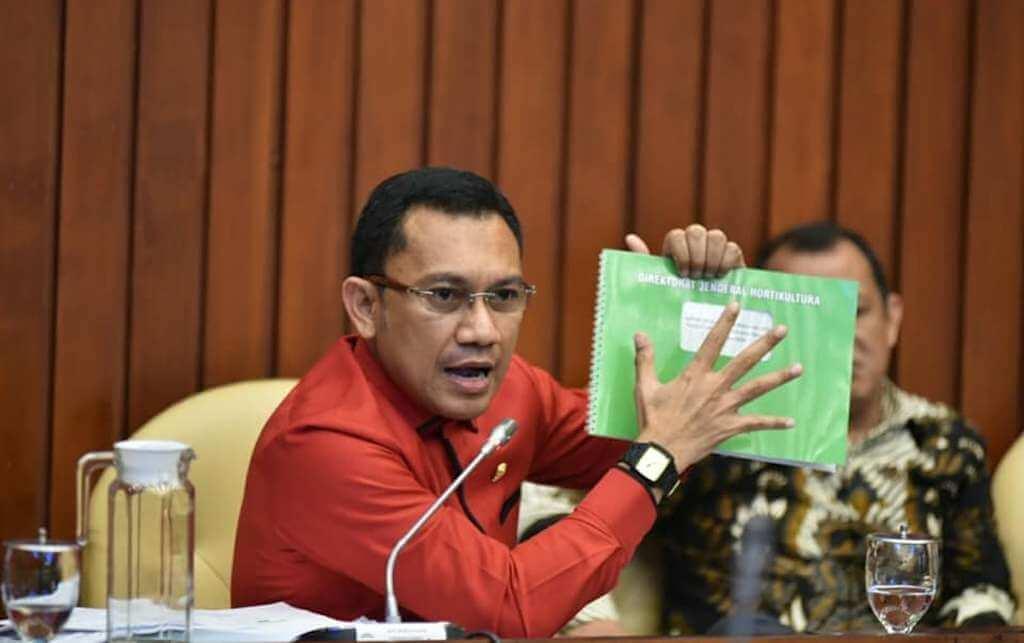Komisi IV DPR RI menggelar Rapat Dengar Pendapat (RDP) dengan Sekjen Kementrian Pertanian dan Dirjen Hortikultura Kementrian Pertanian