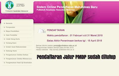 Website PMDP Poltekkes Makassar