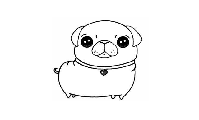 dibujos faciles de pugs