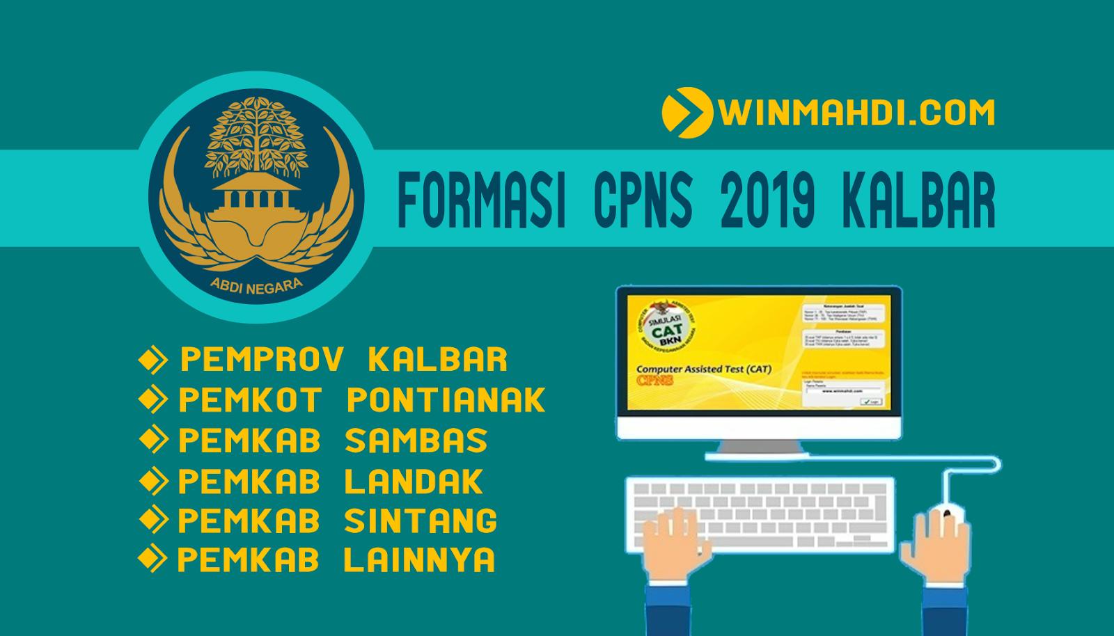 Daftar Formasi CPNS 2019 Kalimantan Barat