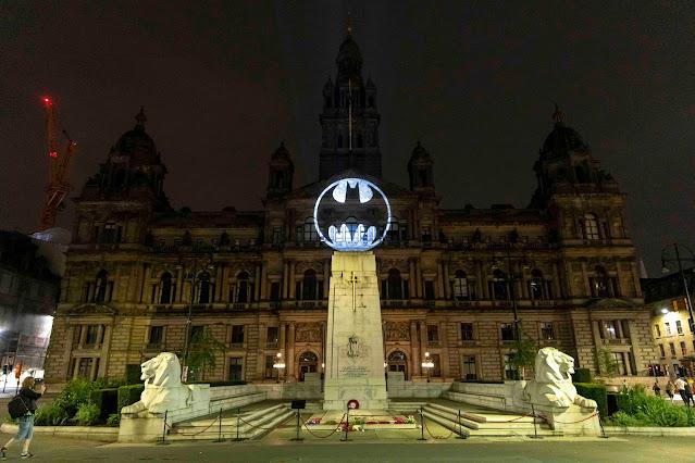 Batman Day 2021 Bat-Signal City Chambers, Glasgow