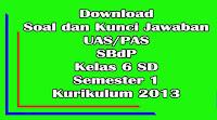 download soal dan kunci jawaban uas sbdp kelas 6 sd semester 1 kurikulum 2013