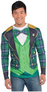St. Patrick's Day Men's Long Sleeve Top S/M