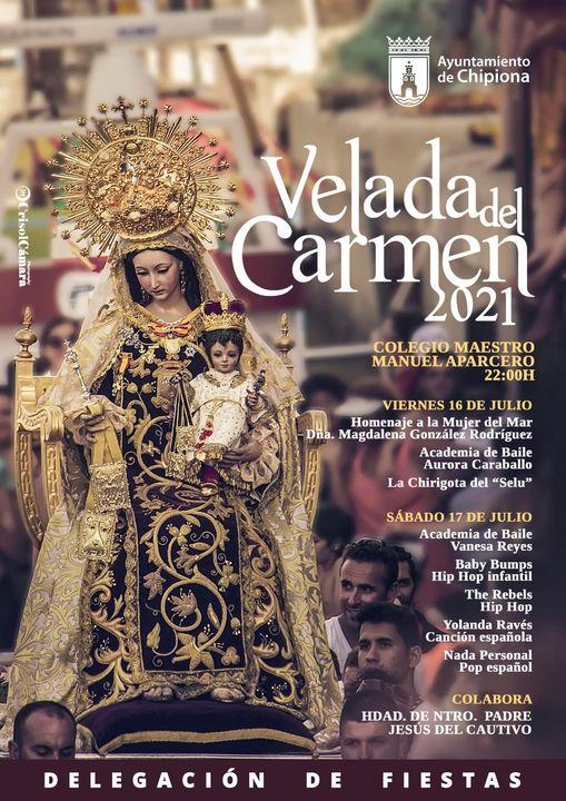 Cartel de las Fiestas del Carmen de Chipiona 2021