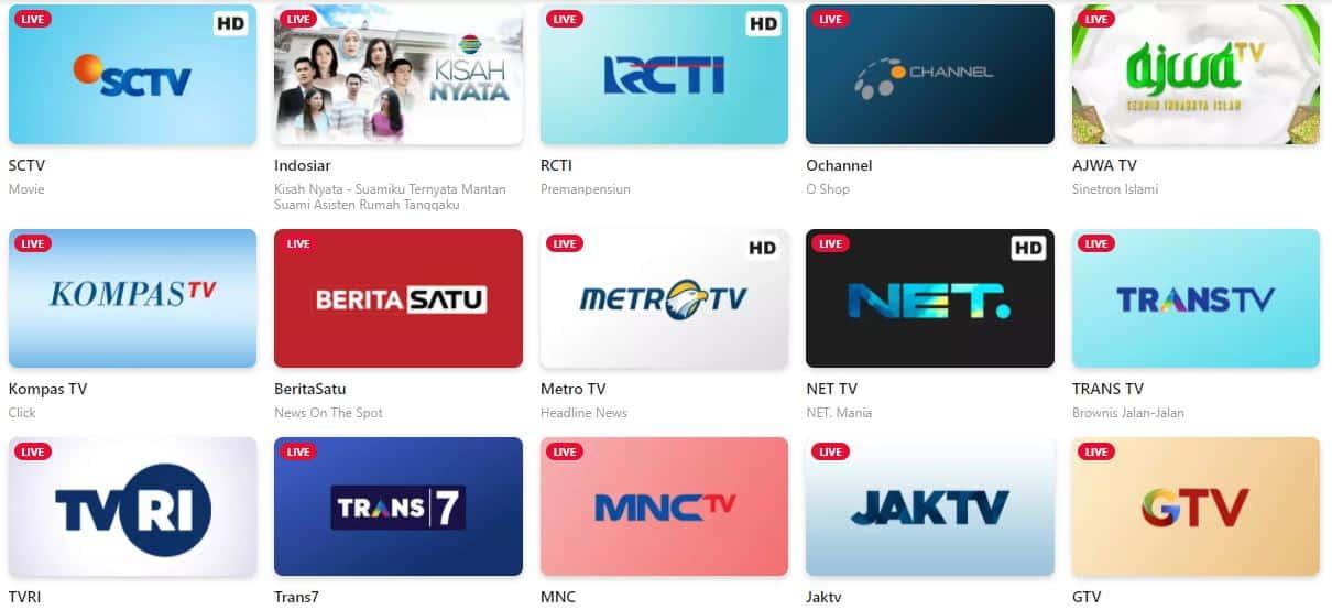 cara nonton tv online di hp android